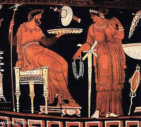 Hades & Persephone, king & queen of the underworld | Greek vase, Apulian red figure