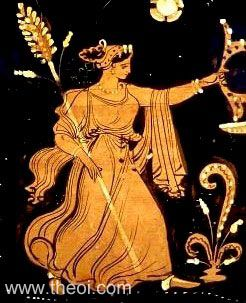 Bacchante with thyrsus | Greek vase, Apulian red figure krater